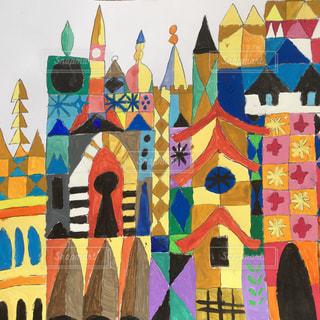 カラフル,絵の具,アート,ペン,デザイン,小学生,紙,幾何学,おえかき,模写,おうち時間,小6男子,メアリーブレア