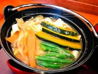 秋に山梨の富士河口湖で食べたほうとうの写真・画像素材[3710653]