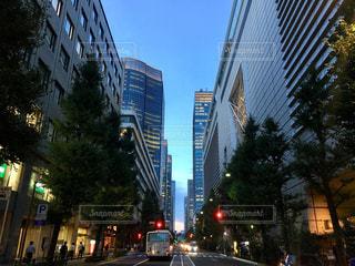 空,東京,道路,タワー,都会,高層ビル,通り