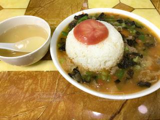 食べ物,食事,屋内,トマト,皿,スープ,ご飯,肉,料理,中国,美味しい,上海,キクラゲ,西域美食