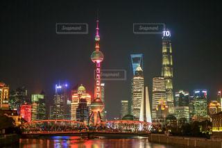 上海の夜景。の写真・画像素材[1044512]