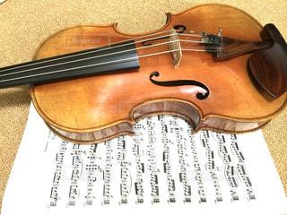 ヴィオラと楽譜の写真・画像素材[817137]