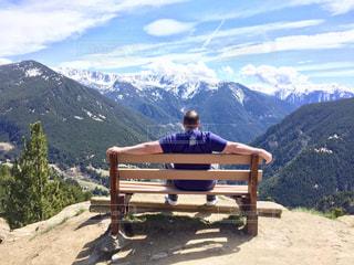 自然,風景,海外,後ろ姿,山,アンドラ