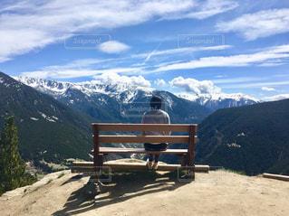 自然,風景,海外,後ろ姿,山,人物,アンドラ