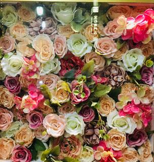 夜,花束,カラフル,フラワーアレンジメント,薔薇,キラキラ,点灯,綺麗な