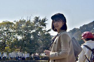 公園,カメラ女子,晴れ,散歩,暖かい,鎌倉