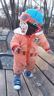子ども,冬,屋外,帽子,人物,男の子,防寒