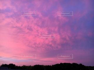 空,ピンク,雲,夕焼け,ピンク色,桃色,pink