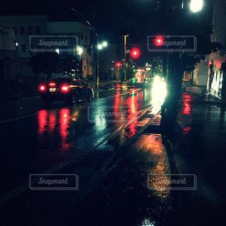 雨の日の路面。 - No.824801