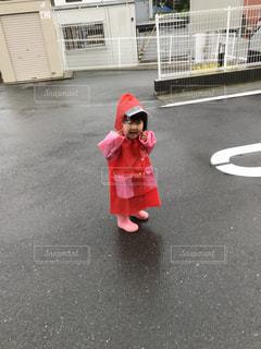 雨,散歩,子供,外,人,可愛い,長靴,梅雨,かっぱ