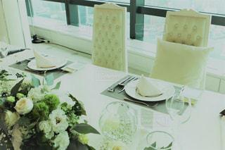 結婚式の新郎新婦のテーブルの写真・画像素材[826042]