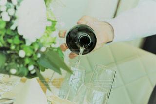 結婚式の乾杯用スパークリングワインの写真・画像素材[826046]