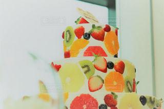 飾られたウェディングケーキの写真・画像素材[826287]