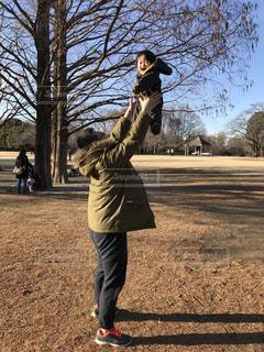 公園,親子,子供,父子,父,高い高い