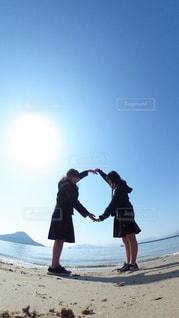 高校生 × 海 × 青の写真・画像素材[1116309]