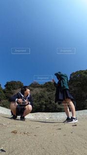 高校生 × 青空の写真・画像素材[1116317]