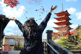 秋,落ち葉,幸せ,高校生,宮島,オールドレンズ,camera,ボジティブ