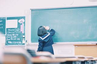 学校,黒板,高校生,セーラー服