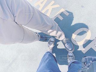 靴,屋外,晴れ,足,散歩,影,休日