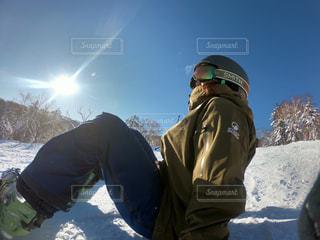 スノーボード日和の写真・画像素材[991208]