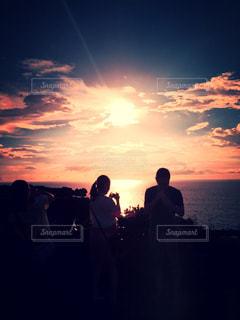 空,屋外,海岸,沖縄,人物,眺め