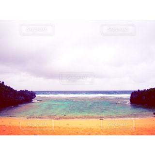 海,砂浜,沖縄,旅行,くもり