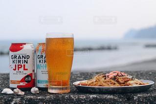 夏の海とキリンビールの写真・画像素材[1312350]