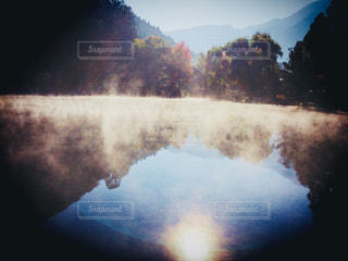 冬,朝,福岡,金鱗湖,湯布院,福岡県