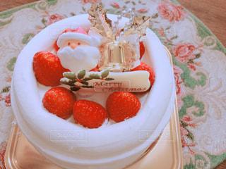ケーキ,室内,苺,クリスマス,サンタクロース,サンタ,デコレーション,ショートケーキ,イチゴ