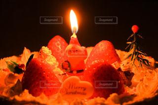 冬,クリスマス,クリスマスケーキ,ロウソク