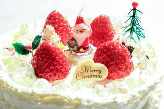 冬,サンタクロース,手作り,クリスマスケーキ,ロウソク