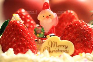 サンタクロース,手作り,クリスマスケーキ,イチゴ,ロウソク
