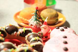 クリスマス,サンタクロース,ロウソク,ミスドのドーナツ