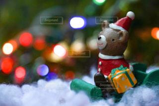イルミネーション,クリスマス,サンタクロース,玉ボケ,クマ