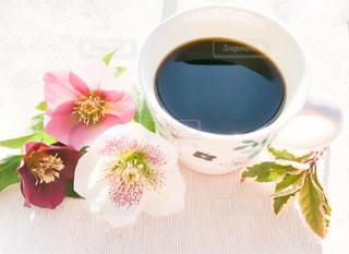 花,コーヒー,COFFEE,珈琲,クリスマスローズ,花と珈琲