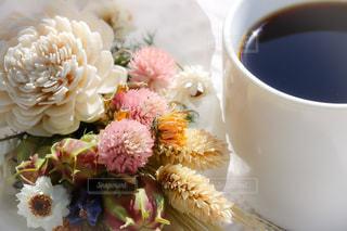花,コーヒー,COFFEE,花束,ドライフラワー,珈琲