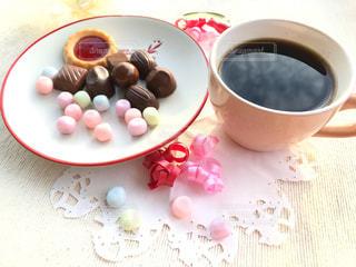 コーヒー,ピンク,赤,リボン,チョコレート,珈琲,バレンタイン,バレンタインデー,珈琲タイム