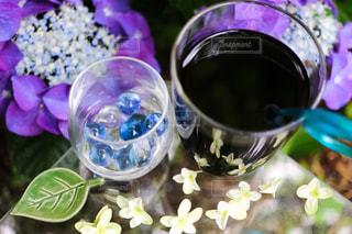 ビー玉の紫陽花の写真・画像素材[1234460]