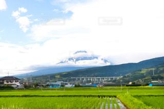 富士山,梅雨,梅雨の晴れ間,梅雨の晴れ間の富士山