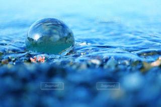 海水に浸かったガラス玉の写真・画像素材[1313045]