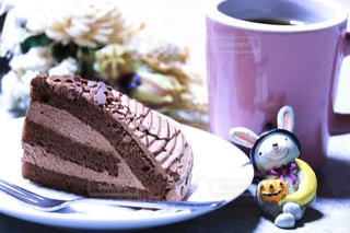 食べ物,秋,ケーキ,デザート,珈琲,テーブルフォト,チョコレートケーキ,食,オヤツ,食欲の秋