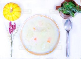 ランチ,ドライフラワー,テーブル,スプーン,ワンプレート,食器,テーブルフォト,お昼,お皿,シチュー,昼ごはん,カボチャ,温まる