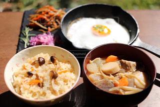 きのこご飯のランチの写真・画像素材[1640695]