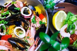 食べ物,晩ごはん,パエリア,シーフード,夕飯,食べもの,食物,地中海料理,チャービル