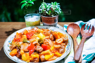 食べ物,ワンプレート,晩ごはん,夕飯,食べもの,食物,酢豚