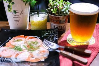 食べ物,ビール,晩ごはん,夕飯,食べもの,スモークサーモンのマリネ