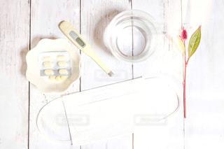 白,体温計,医療,マスク,薬