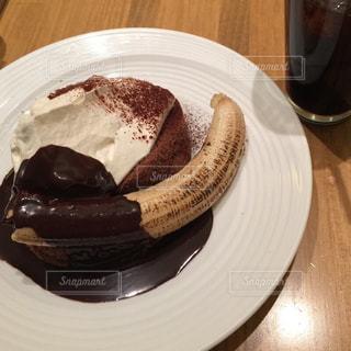 カフェ,ケーキ,パンケーキ,フルーツ,ふわふわ,ティータイム,チョコレート,お茶,チョコ,美味,バナナ