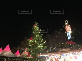 冬,夜,イルミネーション,キラキラ,クリスマス,ツリー,横浜,赤レンガ倉庫,クリスマスマーケット