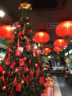 部屋のクリスマス ツリーの写真・画像素材[940137]